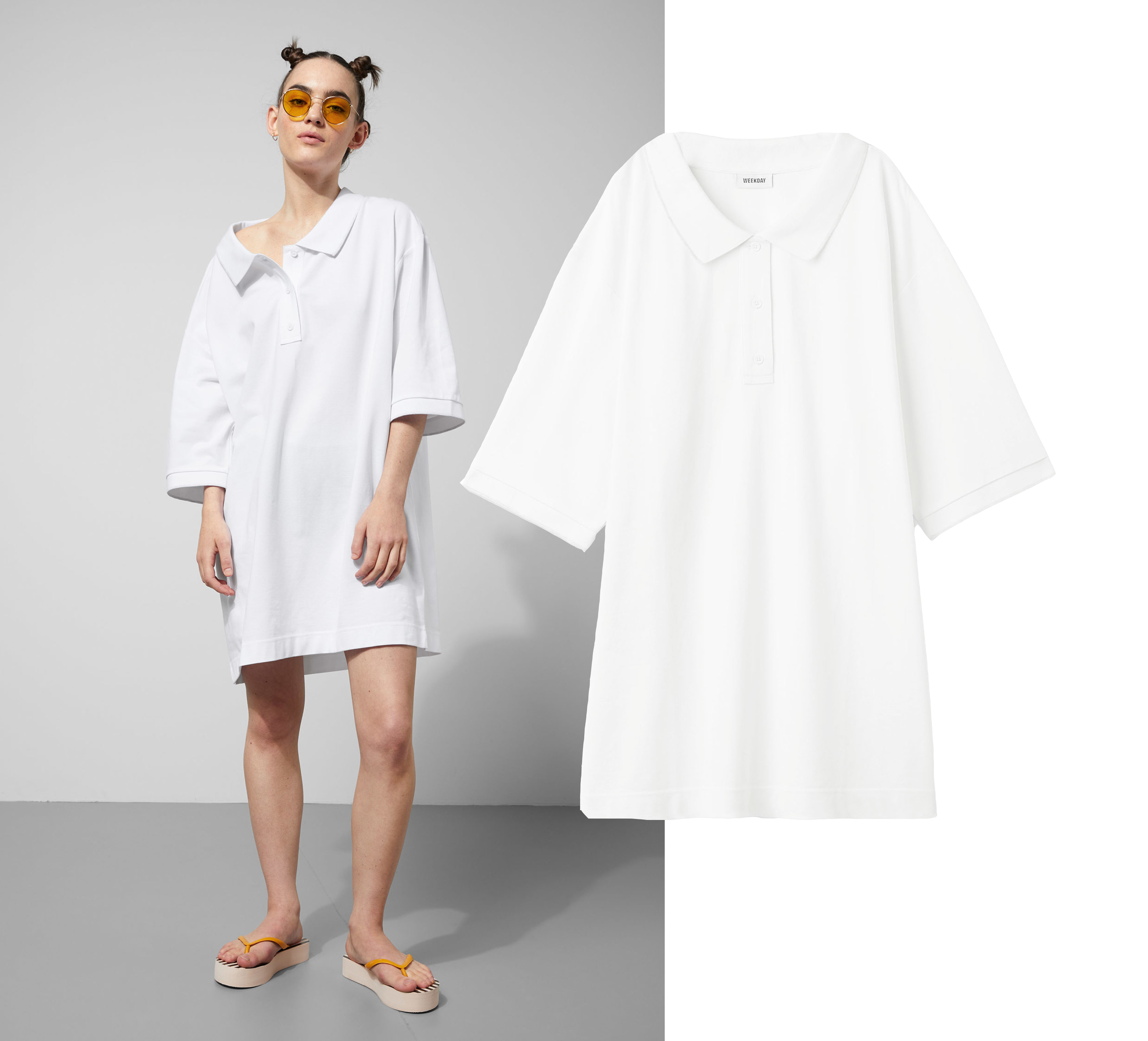 Pick Of Today  That Oversized T-shirt Polo Dress  4d39fff1705c1